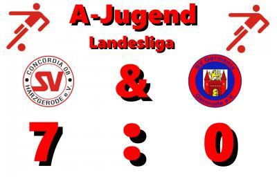 Foto zu Meldung: A-Jugend:  7:0 Derbysieg gegen Gernrode!