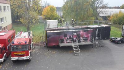 Brandsimulationsanlage auf dem Gelände des FKTZ (Foto: Tobias Pelzer, Sachgebiet Rettungsdienst, Brand- und Katastrophenschutz)