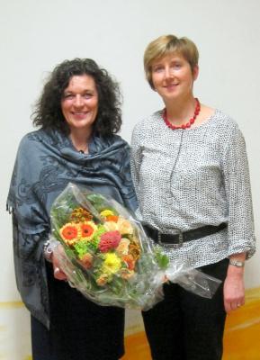 """Foto zur Meldung: Sabine Kreil lenkt das Schiff """"Schondratal"""""""