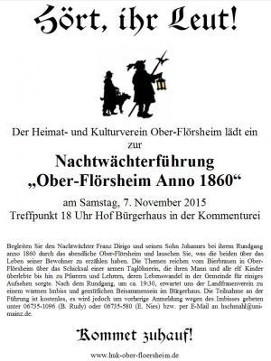 Foto zur Meldung: Nachtwächterführung durch Ober-Flörsheim Anno 1860