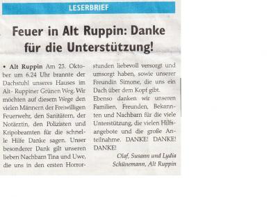 Leserbrief Wochenspiegel v. 14.11.2015