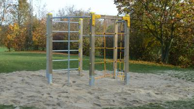 Foto zur Meldung: Neues Spielgerät für Volkmarsdorf