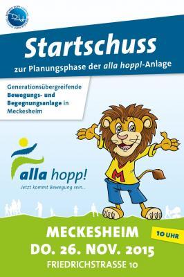 Foto zur Meldung: Herzliche Einladung zum offiziellen Startschuss alla hopp! in Meckesheim