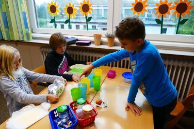 """Foto zur Meldung: Gesunde Ernährung an der Schule im Grünen: """"Versuche zu Nährstoffen in unserer Nahrung"""""""
