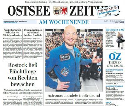 Foto zur Meldung: Dr. Alexander Gerst in Stralsund - Der bodenständige Astronaut