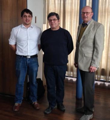 Die Betriebsleiter: Nils Müller und Erich Penka, Verbandsvorsitzender Bürgermeister Rudolf Kürner (von links) Foto: Zweckverband Talhausen