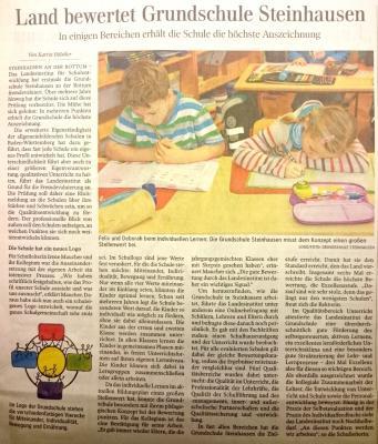Foto zur Meldung: Bericht in der Schwäbischen Zeitung vom 25.11.2015