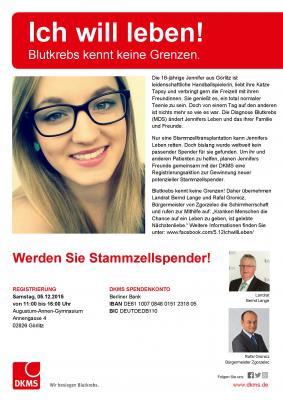 """Foto zur Meldung: """"Ich will leben!"""" - Werden Sie Stammzellspender"""