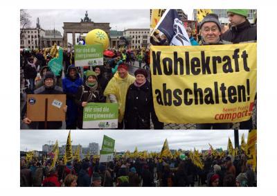 Foto zur Meldung: Rehfelder mit auf dem Global Climate March