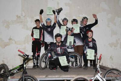 Foto zur Meldung: Erfolgreiche Saison für Schönborner Fahrrad-Trialer des TSC Schönborn e.V. im ADAC
