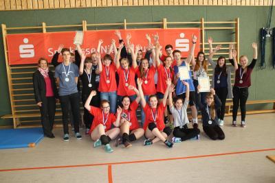 Foto zur Meldung: Kreisfinale Volleyball Jugend trainiert WK II & III