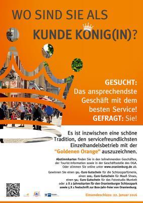 """Foto zur Meldung: Service-Wettbewerb """"Goldene Orange"""" 2015/2016"""
