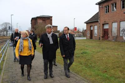 Foto zur Meldung: Minister informiert sich in Wittstock über Laga-Planung