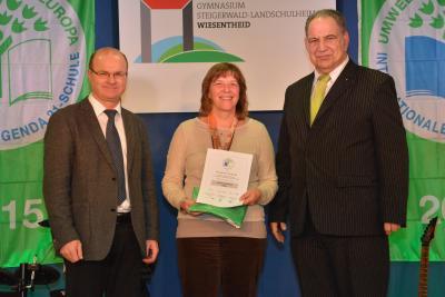 Foto zur Meldung: Auszeichnung zur Umweltschule in Europa 2015