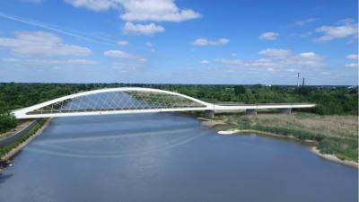 Foto zur Meldung: Neue Oderbrücken bei Küstrin: Siegerentwurf wurde vorgestellt