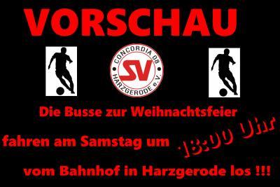 Foto zu Meldung: Vorschau 12./13. Dezember !!!! Die Busse am Samstag zur Weihnachtsfeier fahren erst um 18:00 Uhr vom Bahnhof in Harzgerode los !
