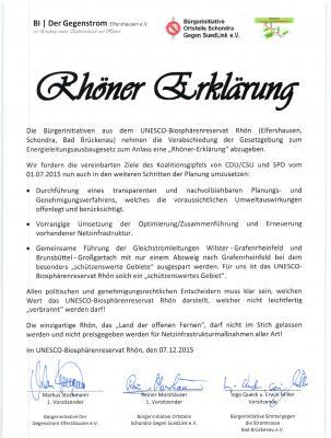 """Foto zu Meldung: """"Rhöner Erklärung"""" unterzeichnet und """"Widerstands-Lied"""" vorgestellt"""