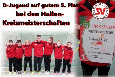 Foto zu Meldung: D-Jugend belegt guten 5. Platz bei den Hallenkreismeisterschaft !