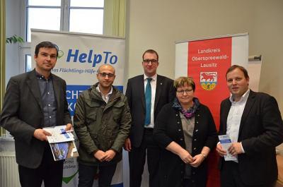Foto zur Meldung: Flüchtlings-Hilfe-Portal HelpTo im Landkreis Oberspreewald- Lausitz gestartet