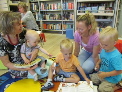 Foto zur Meldung: Lesestart in der Bibliothek Wusterhausen