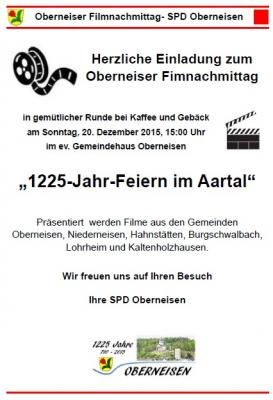 Foto zur Meldung: 1225 - Jahr - Feiern prägten den Oberneiser Filmnachmittag