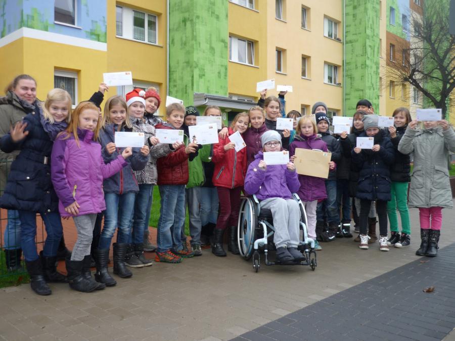 Weihnachtsgrüße Per Post.Friedrich Ludwig Jahn Grundschule Luckenwalde Klasse 4a