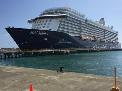 Mein Schiff 3 im Hafen von Tobago