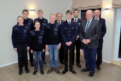 Foto zur Meldung: Jugendfeuerwehr wählt neuen Vorstand