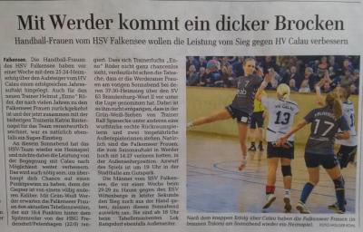 Foto zur Meldung: 1. Frauen - Mit Werder kommt ein dicker Brocken am 16.01.16 in die Stadthalle