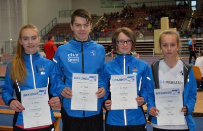 Foto zur Meldung: Jugendliche starteten bei Landeshallenmeisterschaften