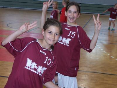 Foto zur Meldung: Handball- Nachwuchs: HSV - Mädchen bezwingen den Tabellenführer