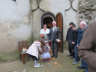 Foto zur Meldung: Hochzeit in der Burg Freyenstein