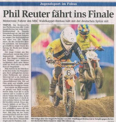Foto zur Meldung: Phil Reuter im Finale