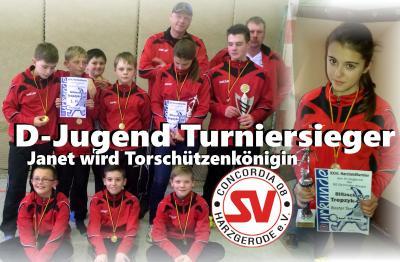 Foto zu Meldung: D-Jugend Turniersieger in Gernrode - Janet beste Torschützin