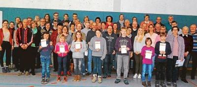 Foto zu Meldung: 125 Sportler absolvierten das Sportabzeichen!