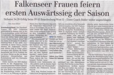 Foto zur Meldung: 1. Frauen - Falkenseer Frauen feiern ersten Auswärtssieg der Saison