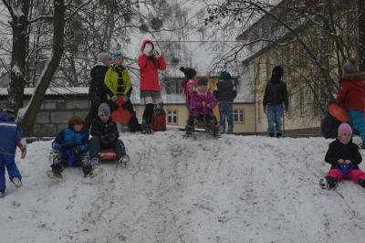 Foto zu Meldung: Endlich Schnee - juche