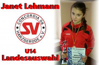 Foto zu Meldung: Janet Lehmann U14 Landesauswahl