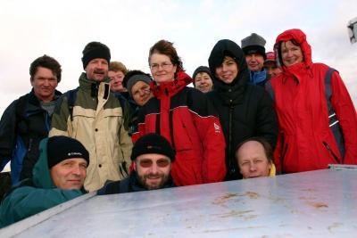 Wanderkollektiv- auf dem Aussichtsturm des Valtenberg