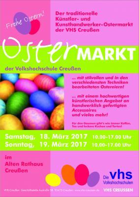 Vorschaubild zur Meldung: VHS-Ostermarkt am 18. und 19. März 2017