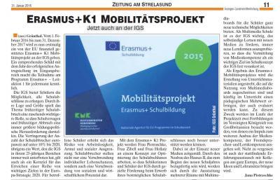 Foto zur Meldung: Erasmus+ K1 Mobilitätsprojekt