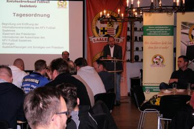 Foto zur Meldung: 2.Informationsveranstaltung des KFV Fußball Saalekreis
