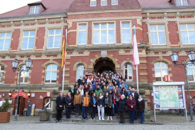 Foto zur Meldung: Schüler des Instituto Aleman Carlos Anwandter besuchen Calau