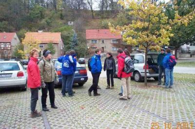 Ankunft auf dem Parkplatz in Hohnstein
