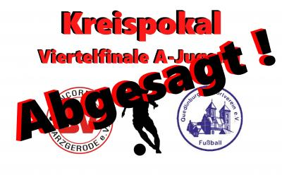 Foto zu Meldung: Kreispokal: A-Jugendspiel gegen Quedlinburg fällt aus !