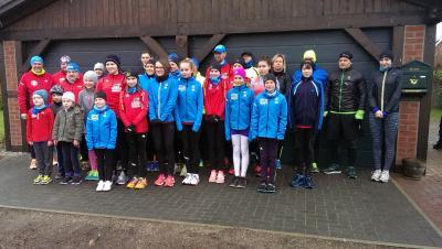 Foto zur Meldung: 1.Winterlauf in Laage