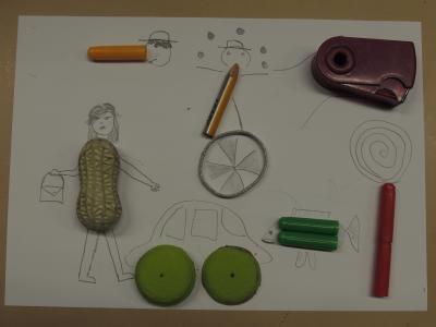 Klasse 6B: Des objets dans mon dessin