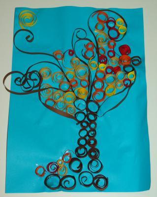 Klasse 4B: Les arbres d'automne