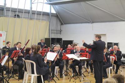 Foto zur Meldung: Besuch des Brandenburgischen Polizeiorchesters