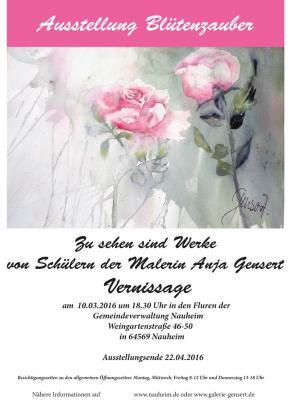 """Foto zur Meldung: Vernissage zur Ausstellung """"Blütenzauber"""""""